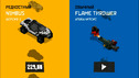 Road of Death Game cartoon about cars survive in racing, shooting at enemies and drive