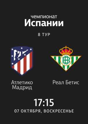 8 тур: Атлетико - Бетис 1:0 Angel Correa